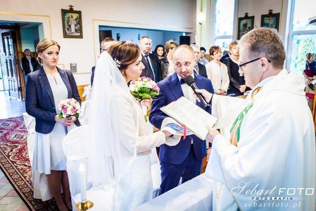 fotografia ślubna kościół sosnowiec