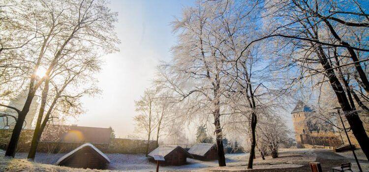 Zima w Będzinie